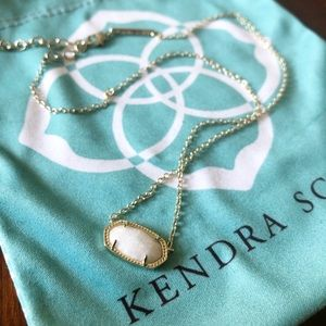 Kendra Scott Elisa White Kyocera Opal Necklace